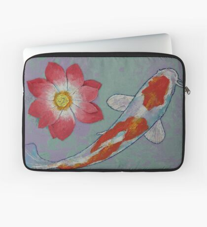 Koi and Lotus Laptop Sleeve