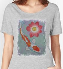 Koi and Lotus Women's Relaxed Fit T-Shirt