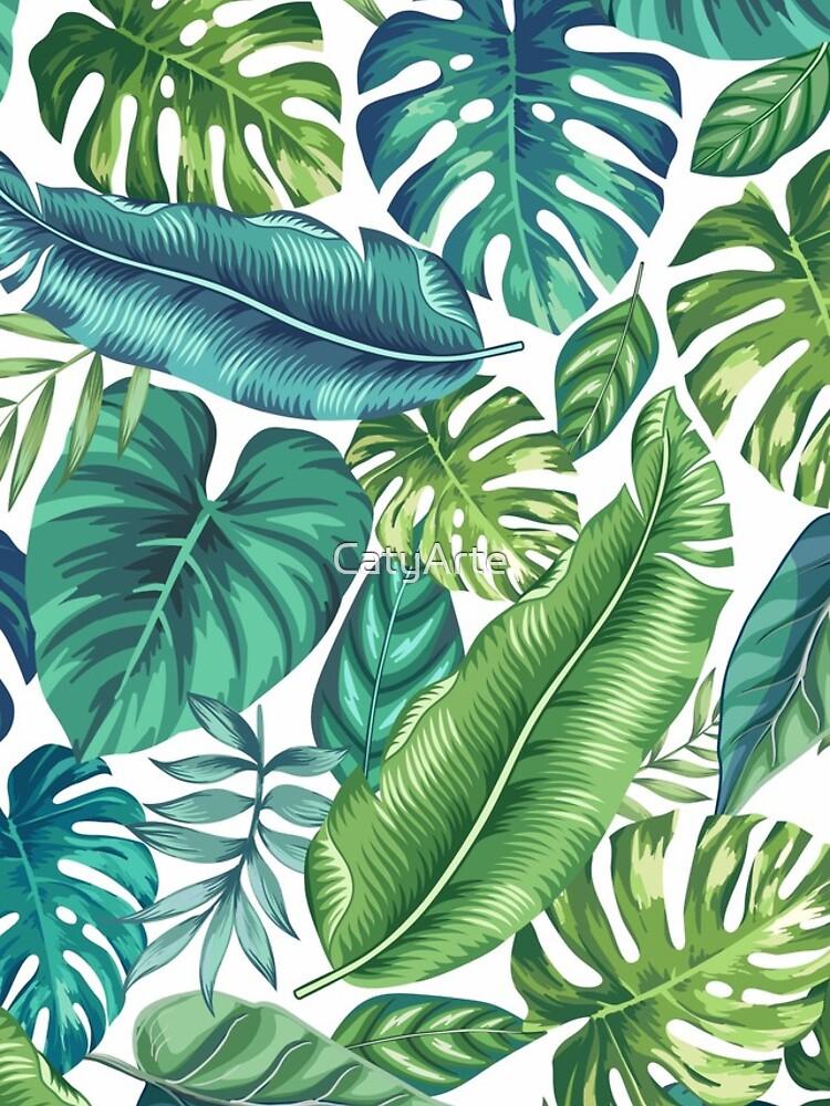 Tropical Leaves II by CatyArte