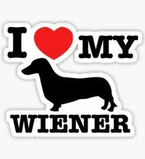 I love my Wiener Sticker