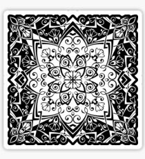 Classic black and white I. - pattern Sticker