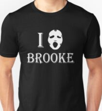 I love Brooke - White Unisex T-Shirt