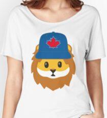 Full Print - Blue Jays No Fear Lion Emoji Women's Relaxed Fit T-Shirt