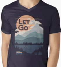 Let's Go Men's V-Neck T-Shirt