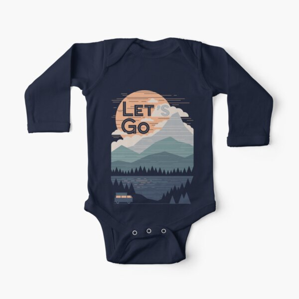 Let's Go Long Sleeve Baby One-Piece
