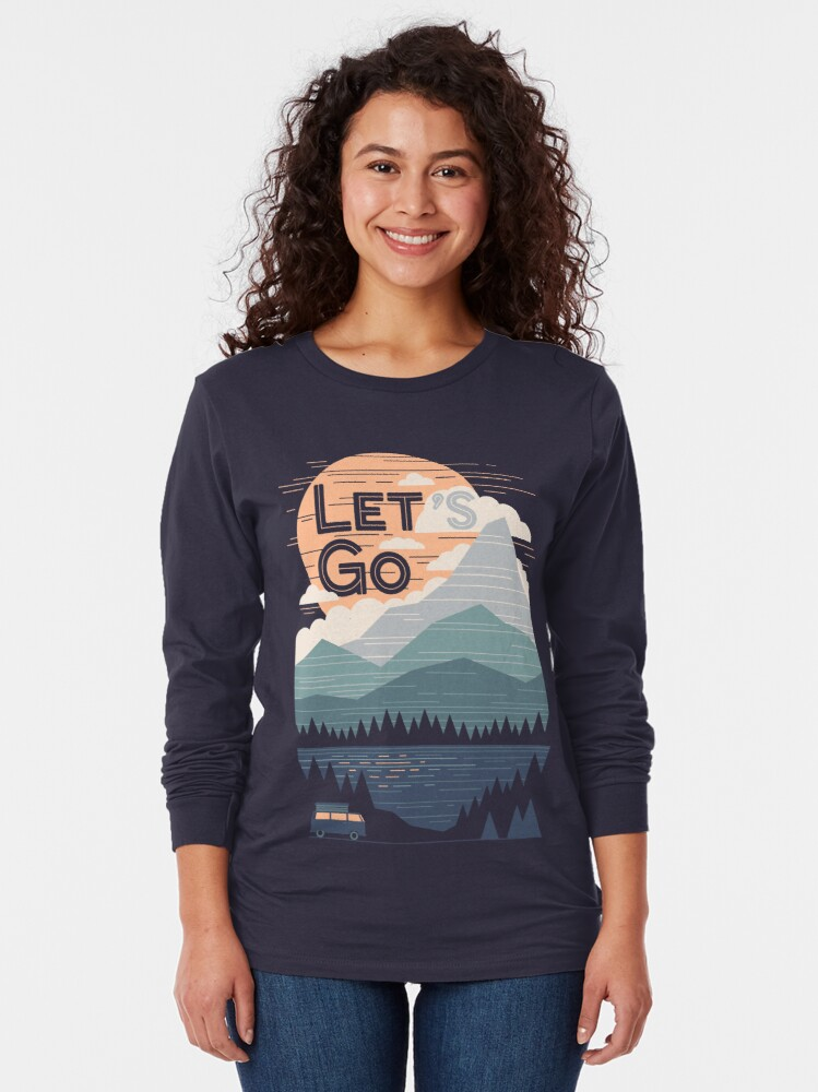 Alternate view of Let's Go Long Sleeve T-Shirt