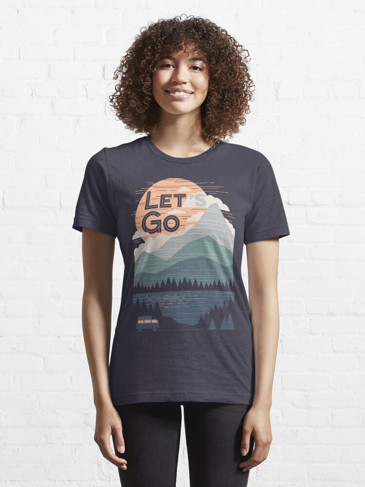 Alternate view of Let's Go Essential T-Shirt