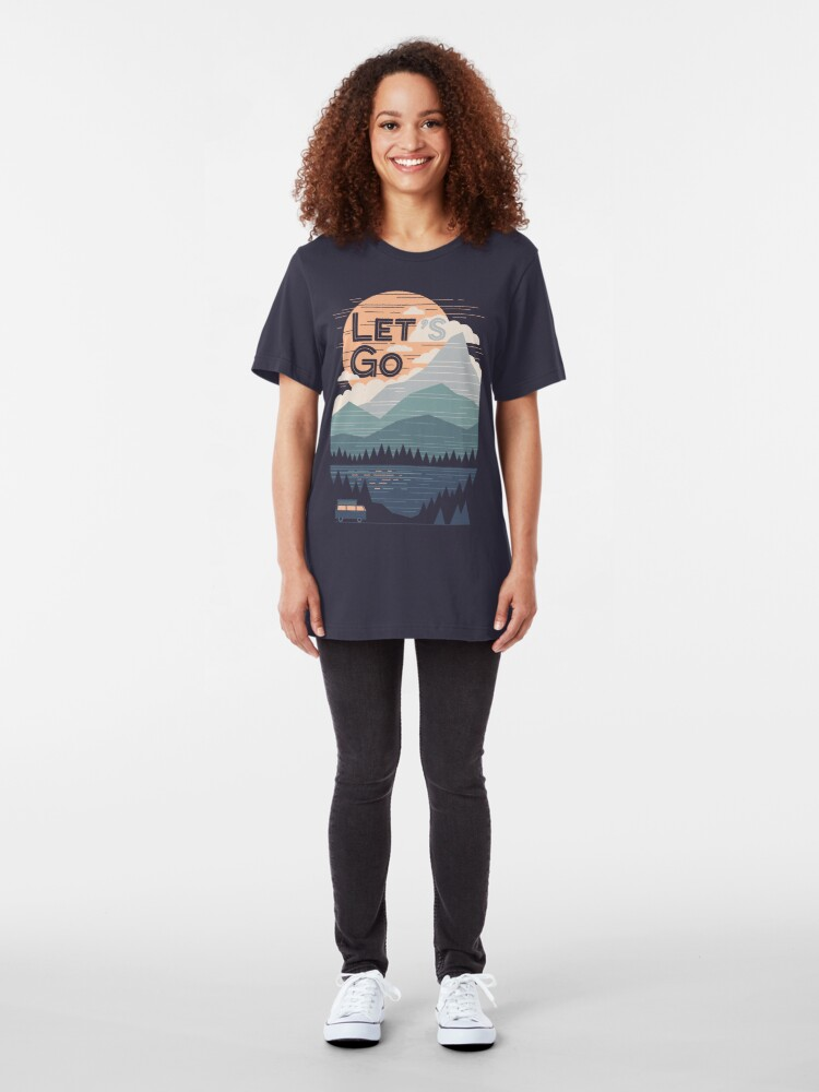 Alternate view of Let's Go Slim Fit T-Shirt