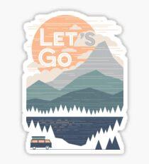 Lass uns gehen Sticker