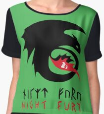 NIGHT FURY - Strike Class Symbol Women's Chiffon Top