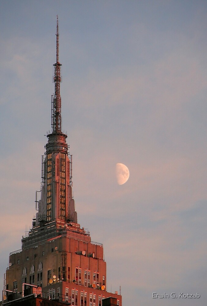 moon over nyc by Erwin G. Kotzab
