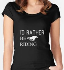Riding horse and animal Women's Fitted Scoop T-Shirt