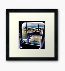 Scene from the Golden Age of Flight  in Color Framed Print