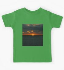 sunset on the beach Kids Clothes