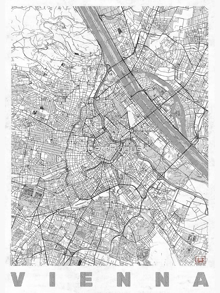 Vienna Map Line by HubertRoguski