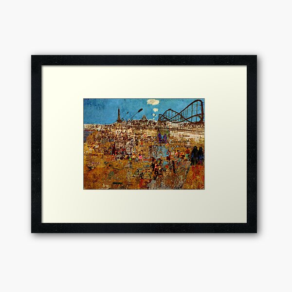 Day Trip to Blackpool  Framed Art Print