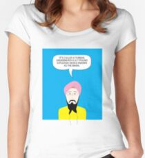 What under the Turban? Women's Fitted Scoop T-Shirt