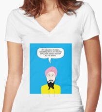 What under the Turban? Women's Fitted V-Neck T-Shirt