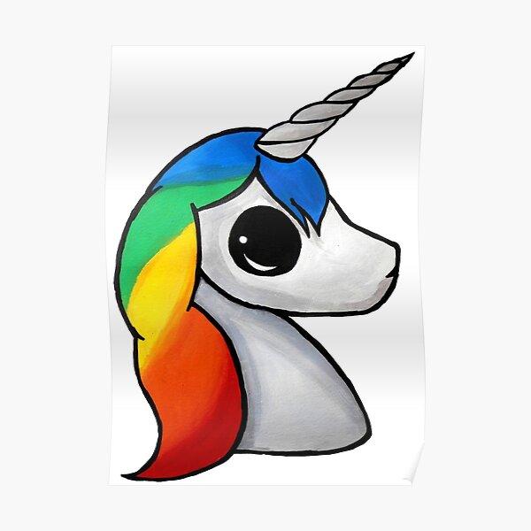 Kawaii Unicorn Poster By Jamestanner3907 Redbubble