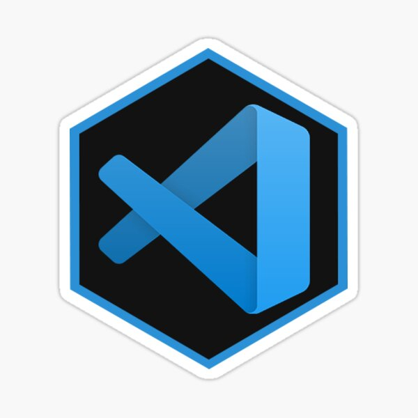 VS Code Hexagon Sticker
