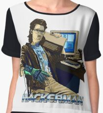 HACKERMAN Women's Chiffon Top