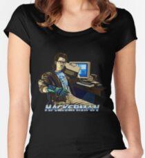 HACKERMAN Women's Fitted Scoop T-Shirt