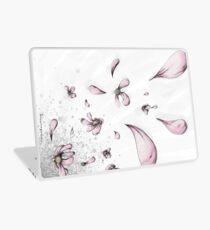 Tanzende Blumen-Grau Laptop Skin