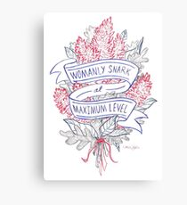 Womanly Snark Canvas Print