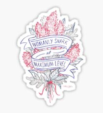 Womanly Snark Sticker
