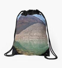 Emerald Lake below Mount Timpanogos Drawstring Bag