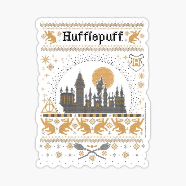 Christmas Hufflepuffzz Ugly Sweater Sticker