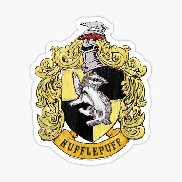 Hufflepuffzz Rough Crest Sticker