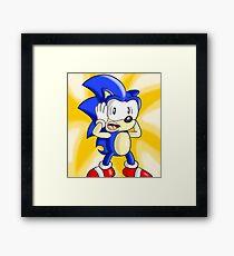 Sonic WAT?! Framed Print