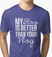 """My Blog is Better than your Vlog""  Lux Series Inspired Design Tri-blend T-Shirt"