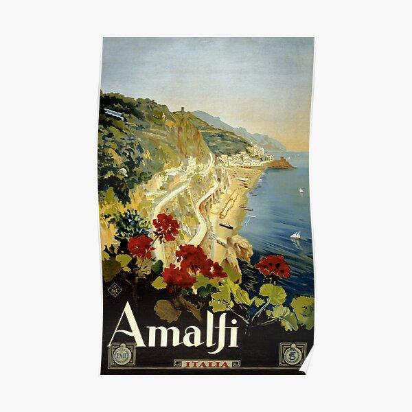 Amalfi Italy Italia Vintage Poster Restored Poster