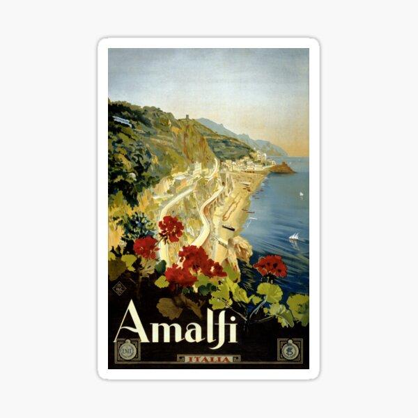 Amalfi Italy Italia Vintage Poster Restored Sticker
