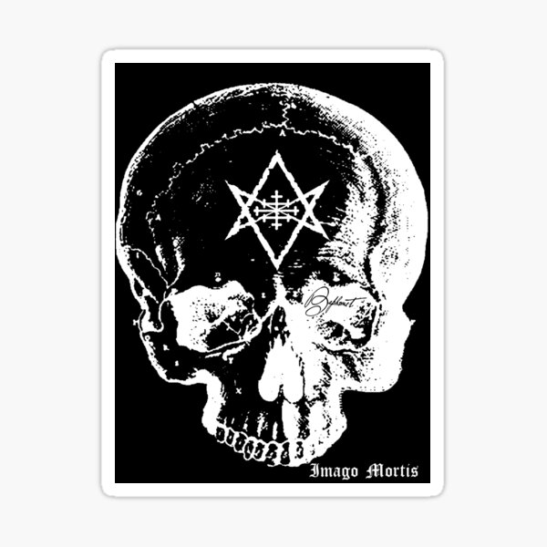 Baphomet Skull Sticker