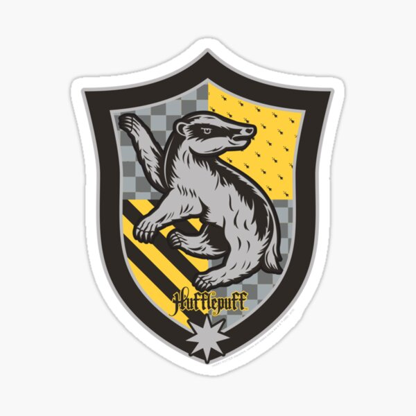 Hufflepuffzz Shield Crest Sweat Sticker