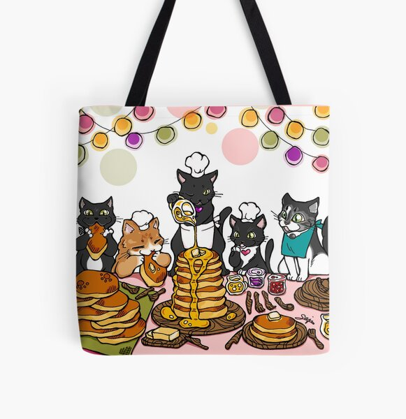 Pancake Cat - Modeled after my cats, family love, party, Pancake for you! All Over Print Tote Bag