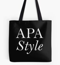 APA Style Tote Bag