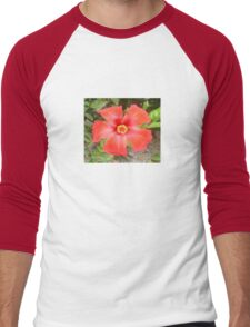 Head On Shot of a Red Tropical Hibiscus Flower T-Shirt