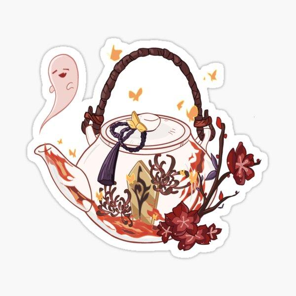 Hu Tao Teapot  Sticker