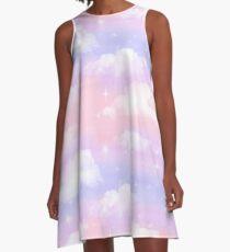 Celestial Sky Print - Multi-Colored A-Line Dress