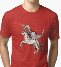 Raptor & Unicorn Tri-blend T-Shirt