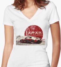 Nissan GTR Japan SUN Women's Fitted V-Neck T-Shirt
