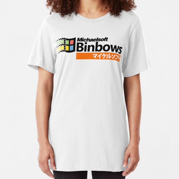 Michaelsoft Binbows マイケルソフト Slim Fit T-Shirt