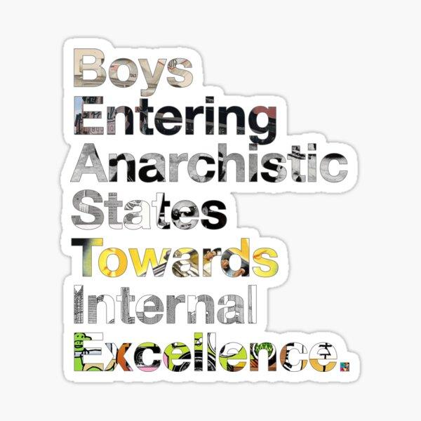B.E.A.S.T.I.E. Anagram Sticker