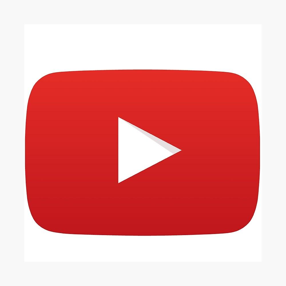 Youtube Wiedergabetaste Fotodruck