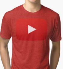 Youtube Play Button Tri-blend T-Shirt