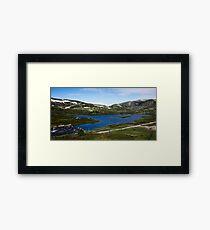 Lake av Blå Framed Print
